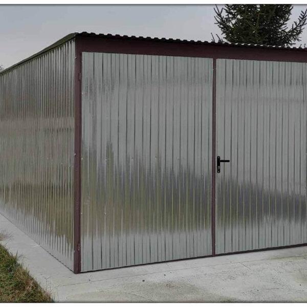 Plechová garáž 3x5 so spádom strechy dozadu Pozink Fab