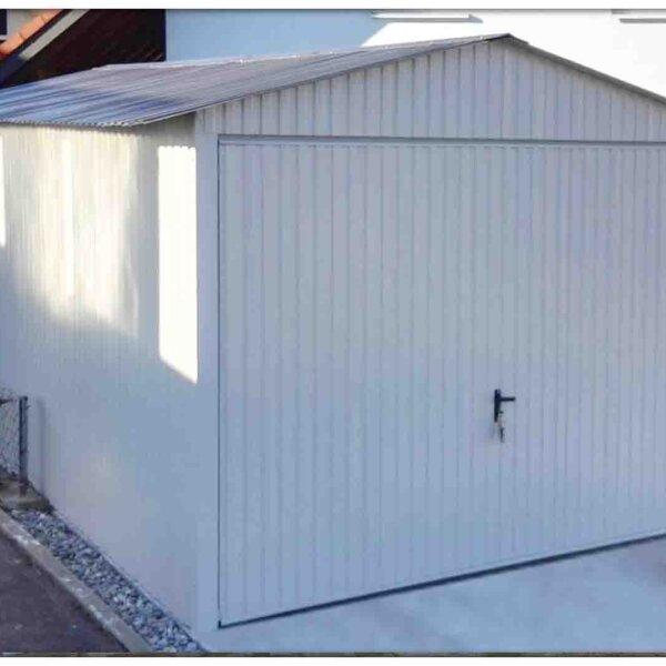 Plechová garáž 3x5 sedlová strecha farba RAL 9010