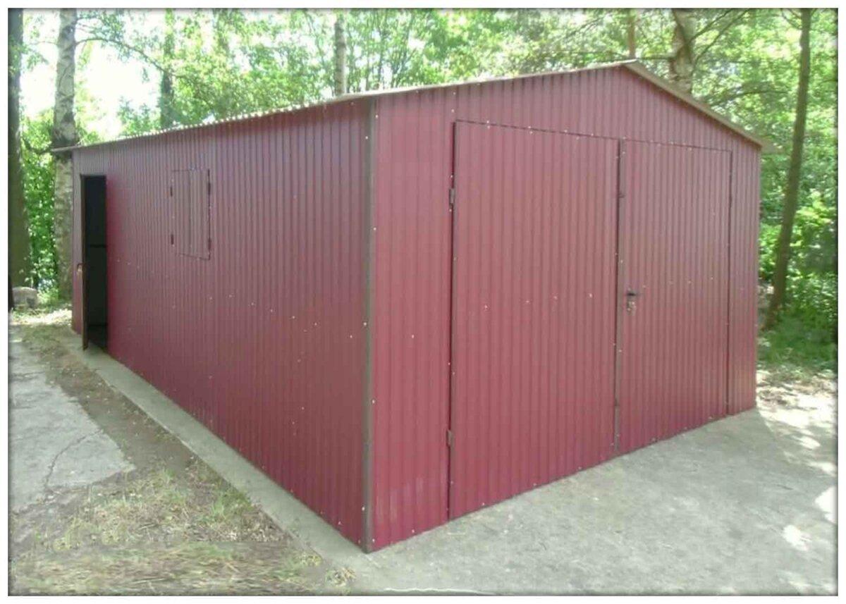 Plechová garáž 4x6 sedlová strecha BTX3005
