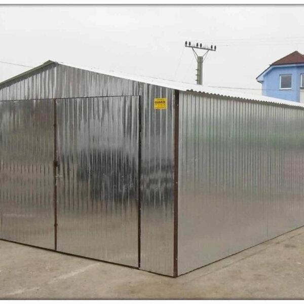 Plechová garáž 4x6 sedlová strecha Pozink