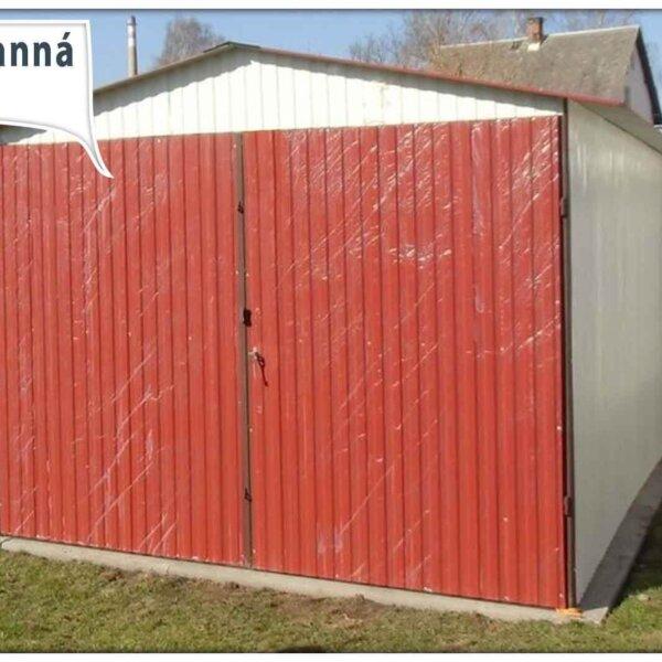 Plechová garáž 3x5 sedlová strecha RAL Plechová garáž 3x5 sedlová strecha RAL 9010