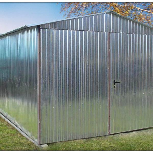 Plechová garáž 3x5 sedlová strecha Pozink + FAB