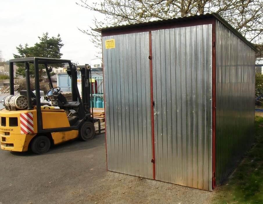 Plechová garáž 2x3 so spádom strechy dozadu pozink
