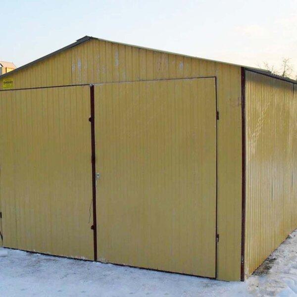 Plechová garáž 3,5x6 sedlová strecha