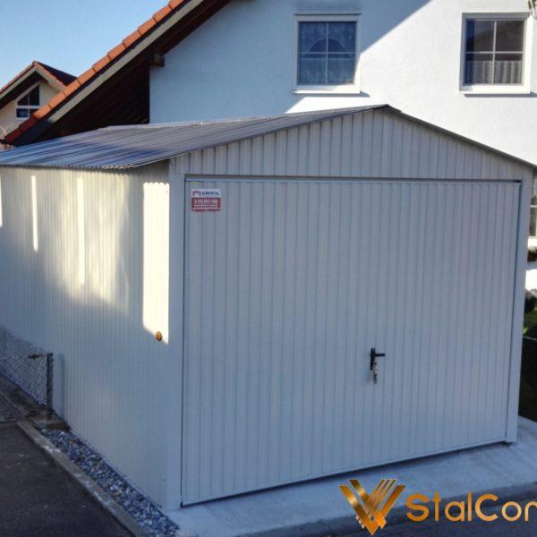 Plechová garáž 3x5 sedlová strecha (2)