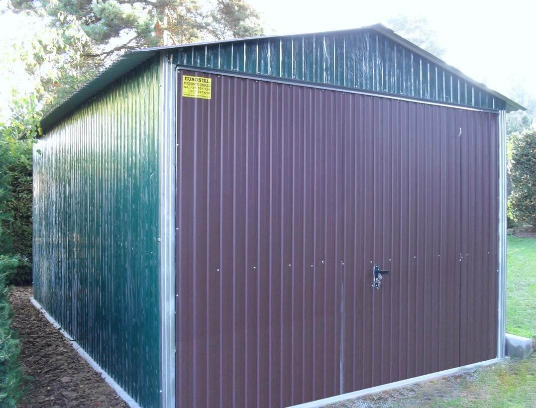 Plechová garáž 3x5 sedlová strecha RAL RAL 6005