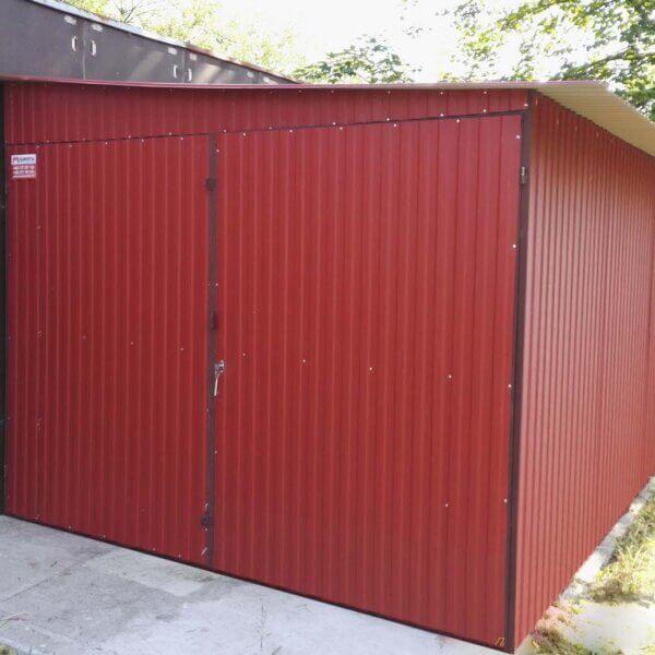 Plechová garáž 3×5 so spádom na bok