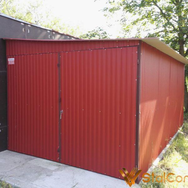 Plechová garáž 3x5 so spádom na bok BTX 3011