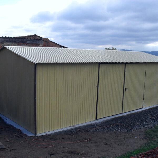 Plechová garáž 4×7 sedlová strecha