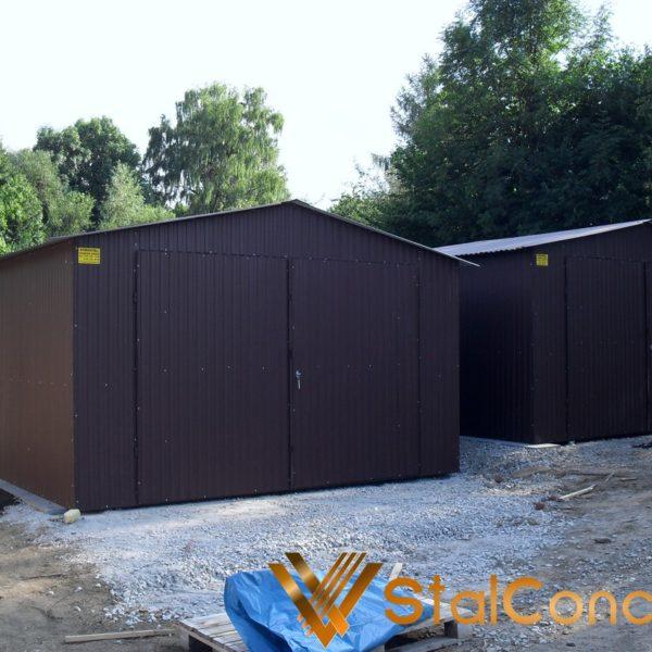 Plechová garáž 4x6 sedlová strecha BTX 8019
