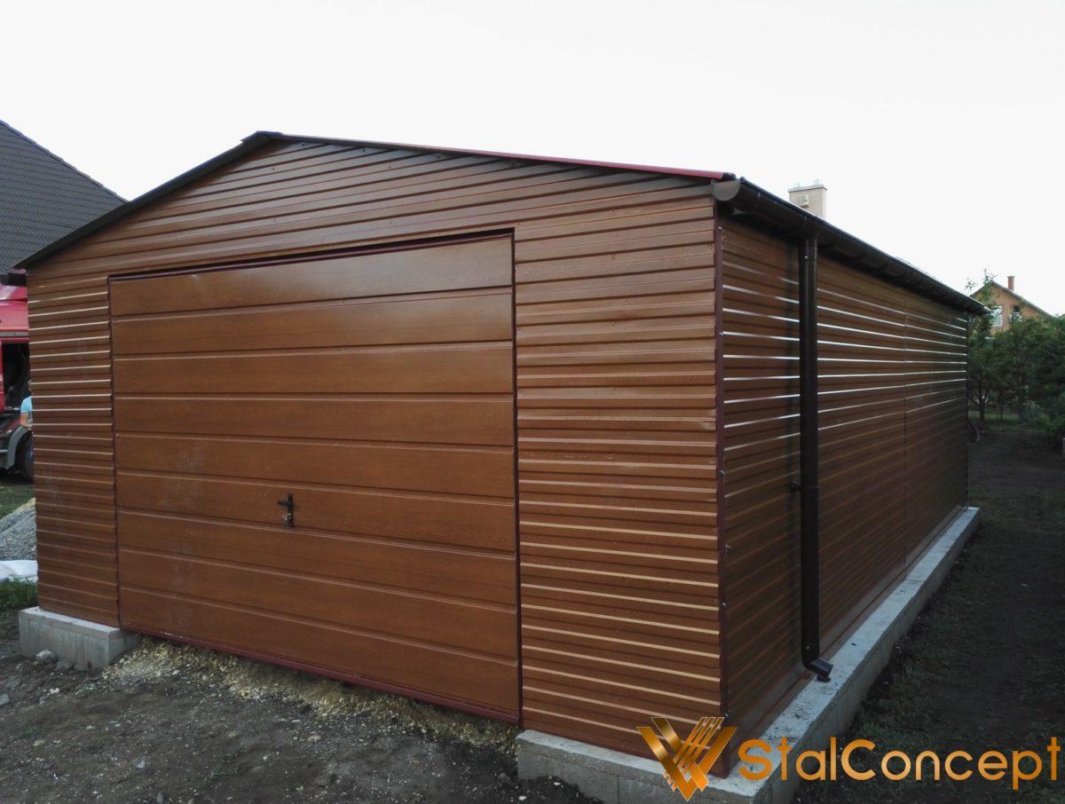 Plechová garáž 5x7 sedlová strecha Zlatý Dub