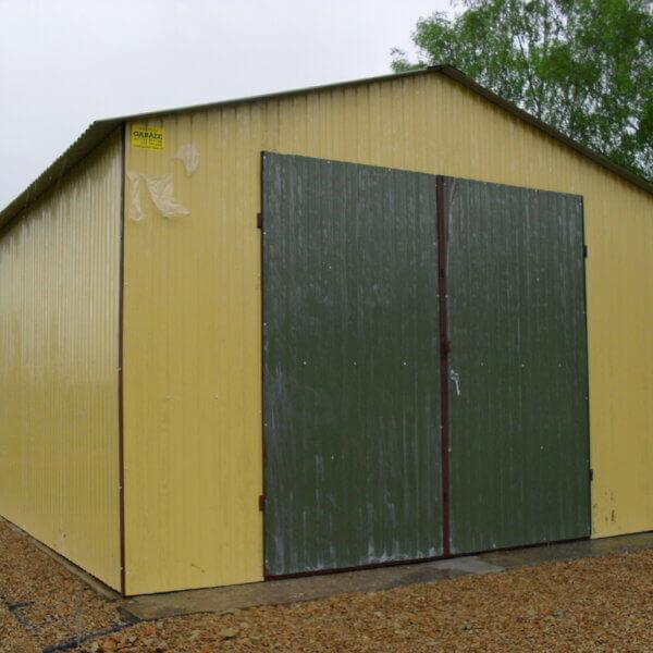 Plechová garáž 4×6 sedlová strecha