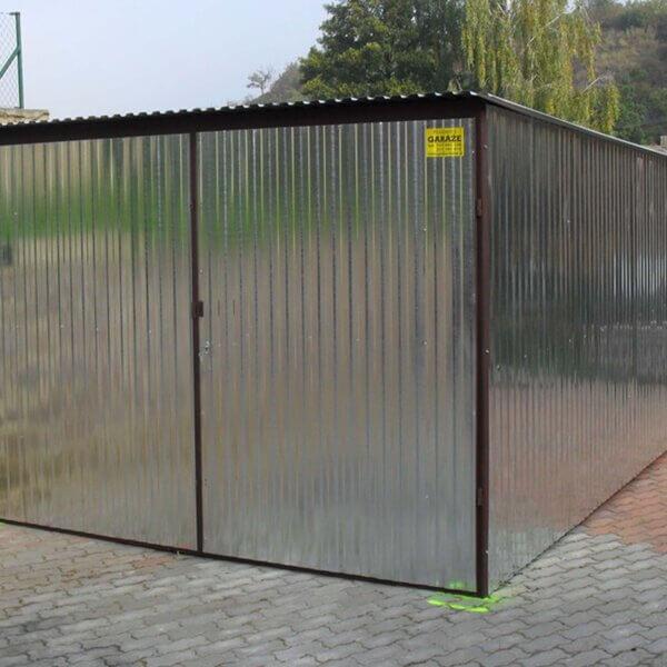 Plechová garáž – 3×5