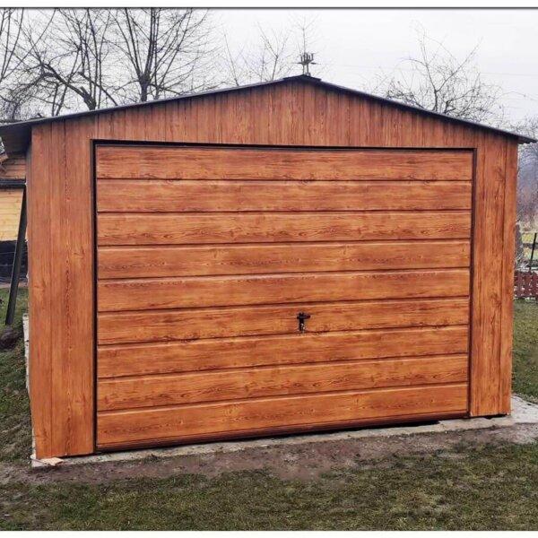 Plechová garáž 3,5×6 sedlová strecha