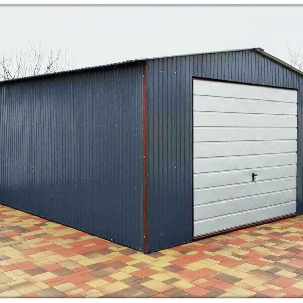 Plechová garáž - sedlová strecha 5x6