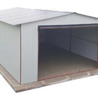 Plechová garáž na dlažba